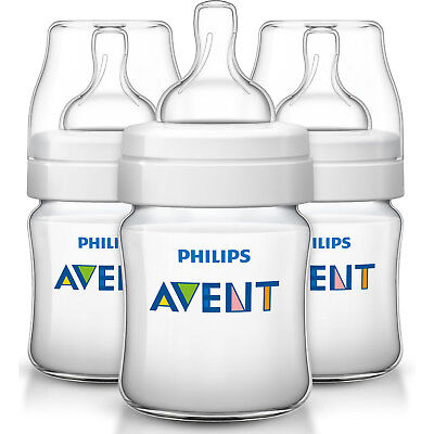 Philips Avent Classic+ Feeding Bottle 3x 125ml/4oz (SCF560/37)