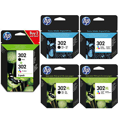 Genuine HP 302 Combo / 302XL Black and Colour Ink Cartridges for Deskjet 1110