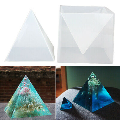 15cm Pyramid Large Silicone Mold Resin Casting Jewelry Crafts Making Mould Tools