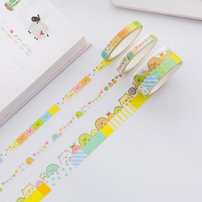 3pc/pack Cute Cartoon Sumikko Gurashi Washi Tape DIY Masking Tape Office Supply^