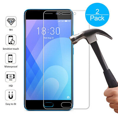 2X  9H Tempered Glass Film Screen Protector Cover For Meizu M5 M6 M5Note M6 Note