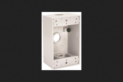 NEW BELL WEATHERPROOF 5320-6 WHITE ALUMINUM SINGLE GANG OUTLET BOX 1896349