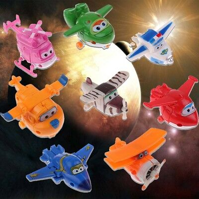 4/812/16/20Pcs Super Wings TV Transforming Animation Air-Planes Mini Toys Kids