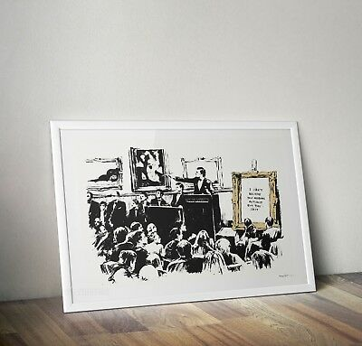 Banksy Auction Morons Graffiti Street Art Poster Print Picture A3 A4