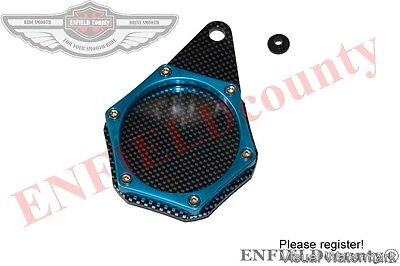 New Motorcycle Carbon Tax Disc Token Holder Blue Colour Motorbike