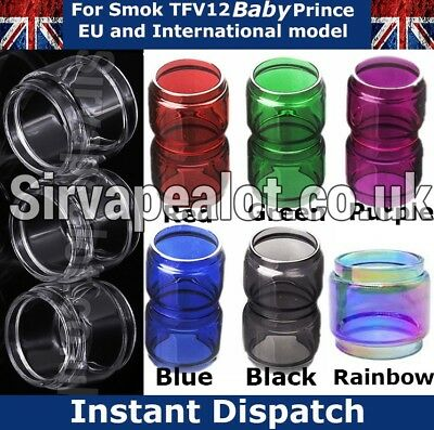 Smok TFV12 BABY PRINCE Replacement Bubble Pyrex Glass tank 6 Colours
