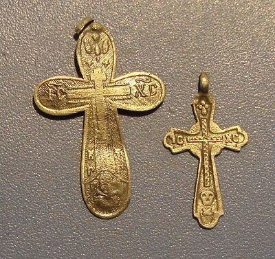 Ancient Crosses SILVER 18 - 19th century.* 84 test of silver* ORIGINAL.