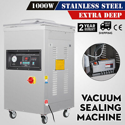 1000W Vacuum Packing Sealing Sealer Machine Extra Deep Automatic Kitchen System