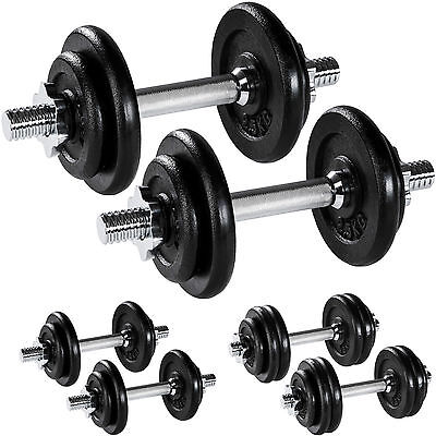 Dumbbell Set Weights Training Exercise Fitness Cast Iron Biceps Gym Workout