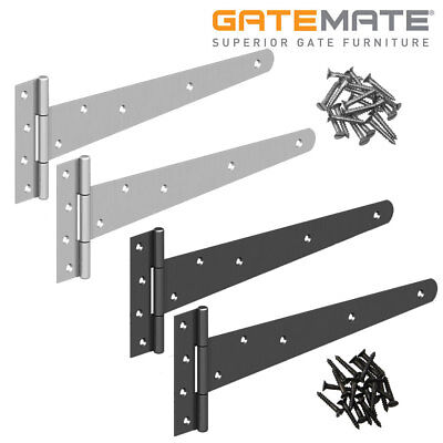 Gatemate Strong Tee Hinges Heavy Duty Application Various Sizes and Finishes