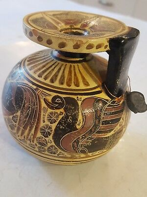 Greece CORINTHIAN ARYBALLOS MUSEUM CERTIFIED COPY CHICKEN GOOSE 600BC FLASK