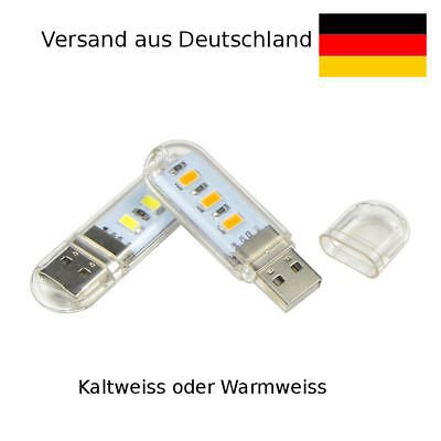 💡  3 x Superheller USB LED Stick Lampe Laptops, Powerbanks, 2.5W, USB Licht 💡