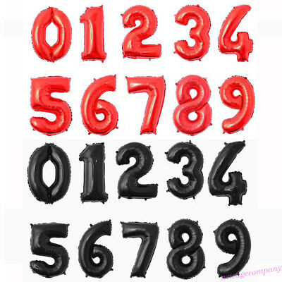 32'' Number 0-9 Helium Foil Balloons Birthday Holiday Wedding Decor DIY Party-us