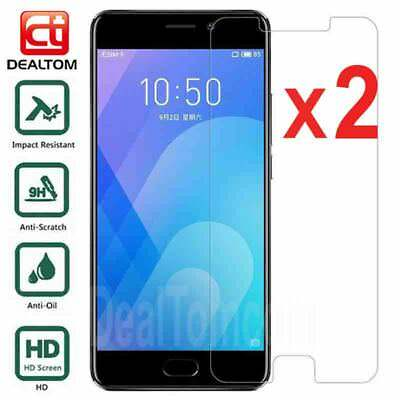 2Pcs 9H Tempered Glass Film Screen Protector Cover For Meizu M5 M6 M5Note M6Note