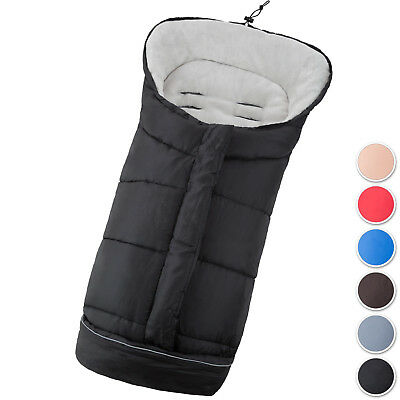 Universal fit thermo winter footmuff pram child baby car seat cosy toes