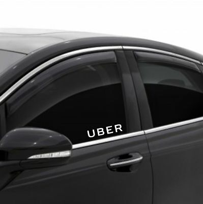 Uber Driver Decal Sticker Window Sign - Car Rideshare Gear Big Tips - Windshield