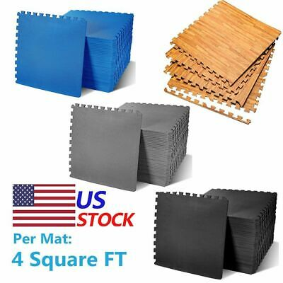 24-1200 Sq Ft Interlocking Eva Foam Floor Puzzle Work Gym Mats Puzzle Mat Lot Ec