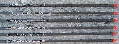 Flatline Easton Carbon Shafts With Nocks And Inserts Cut Free