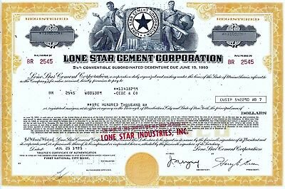 Lone Star Cement Corporation, 1975,  5 1/8% Debenture due 1993 (100.000 $)