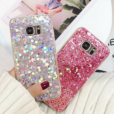 Luxury Bling Glitter Clear Soft Gel Phone Case Cover For Samsung J3/A5/S9/S8/S7+