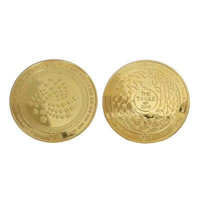 IOTA Commemorative Round Collectors Coin Gold Silver Plated Miner Coin Gift 38mm