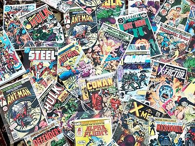 1 MIXED BOX LOT/BUNDLE OF 50 MARVEL/DC COMICS, Spiderman, X-Men, Hulk, Avengers