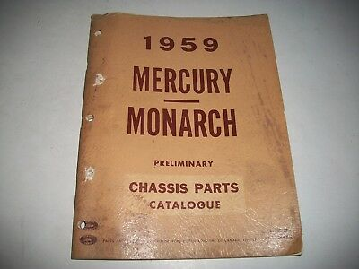 1959 Mercury+Monarch Illustrated Chassis Parts Catalog Cmystore4More