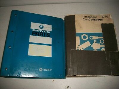 1970 -1971 Dodge Chrysler Plymouth Master Parts Catalog W/ Hardcover Binder