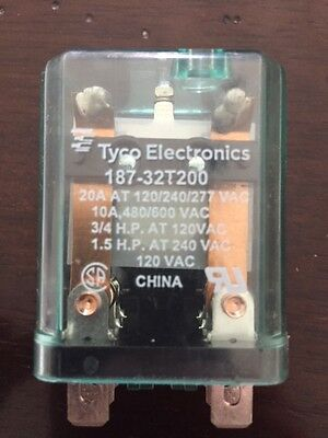 Tyco Electronics-Plug-In-Relay-10A-480/600Vac-20A-120/240/277Vac 187-32T200