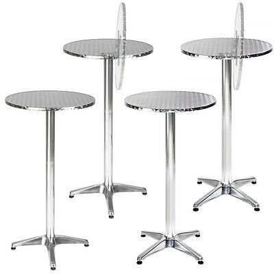 Round aluminium bistro table bar pub party cafe garden patio 2 heights Ø60cm new