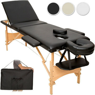 Lightweight portable massage table folding therapy beauty 3 zones + bag