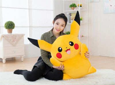 100CM Big Digimon Pikachu Pokemon Plush Giant Large Stuffed Toy Doll Pillow Xmas