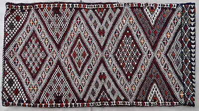 Pillow cushion tapestry antique oriental tribal Berber Moroccan Morocco 1950