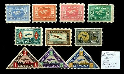LITHUANIA 1921/22 Airmail As Described Mounted Mint NH455