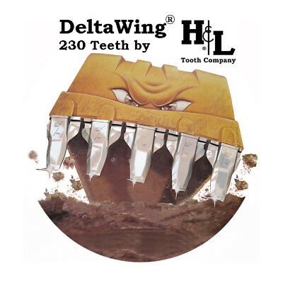 H&L 230 DeltaWing® Bucket Tooth Kit Patented Lip Saver System by H&L Tooth Co.