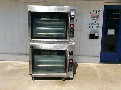 Hardt Double Stacked Inferno 3500 Natural Gas Rotisserie Oven #3136
