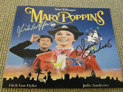 Julie Andrews & Dick Van Dyke signed autograph from Mary Poppins photo