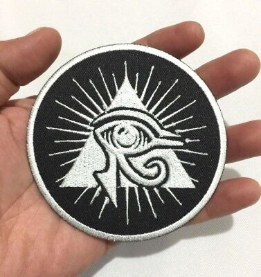 Eye of Horus Triangle Ancient Egyptian See Symbol Embroidered Iron On Sew Patch