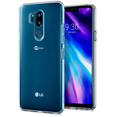 For LG G7 ThinQ | Spigen® [Liquid Crystal] Shockproof Clear TPU Slim Cover Case