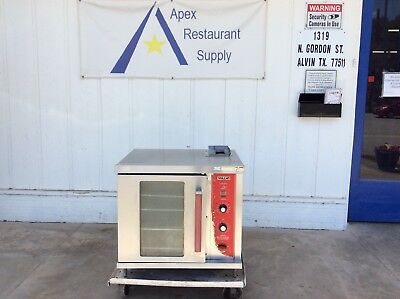 hobart/vulcan 120v gc02d half-sized gas convection oven #3137