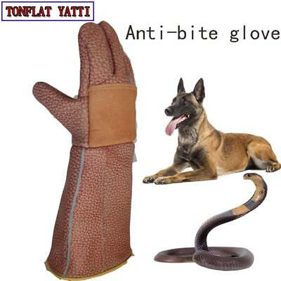Thick Leather Anti-bite Gloves Tactical Animal Training For Dog Cat Snake Bite