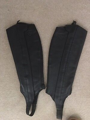 Ariat Classic Half Chaps In Black Size ST