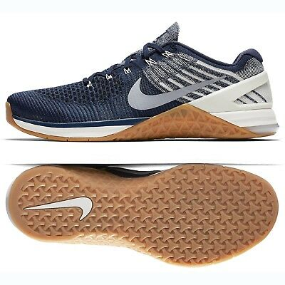 separation shoes 88379 67b3b Nike Metcon DSX Flyknit 852930-404 College Navy Grey Men Training Shoes Sz  10