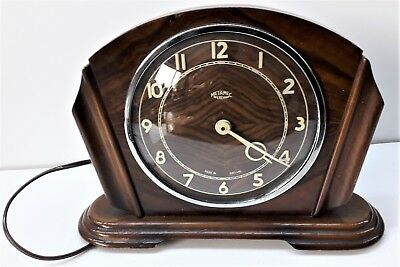 Vintage METAMEC Electric Mantel Clock with Bakelite Cover - Spares or Repair