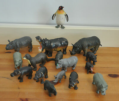 VINTAGE EARLY LEARNING Centre Rhino Otter Penguin Hippo Wild Animals ...
