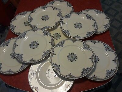 """Early 1900s Lenox Maryland Set of 10.5"""" Dinner Plates, 11ct"""
