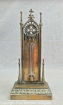 Antique Gothic Thermometer by Cary, London