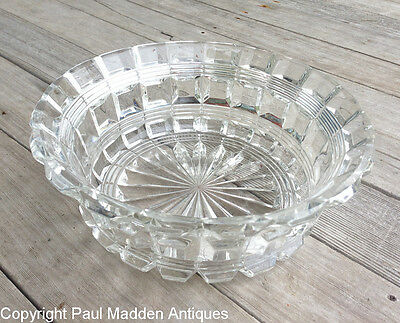 Antique Sandwich Glass Pressed Glass Bowl