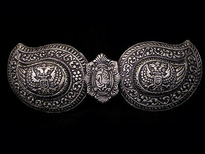 Pair Of Medieval Silver Buckles, Terracotta Museum Replica!!!e