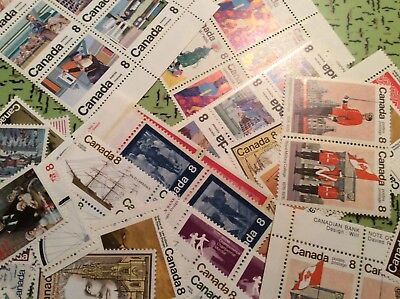 NEED POSTAGE? CANADA 8$ face value. 100x 8c FULL GUM LEGAL FOR POSTAGE